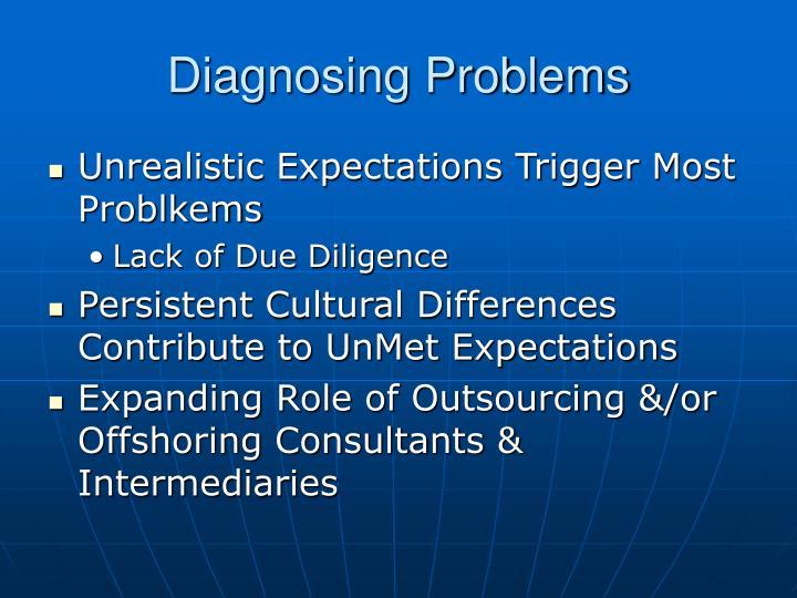 Diagnosing Problems