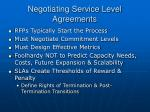 negotiating service level agreements