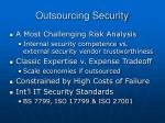 outsourcing security