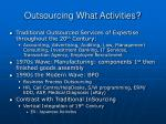 outsourcing what activities