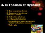 4 d theories of hypnosis