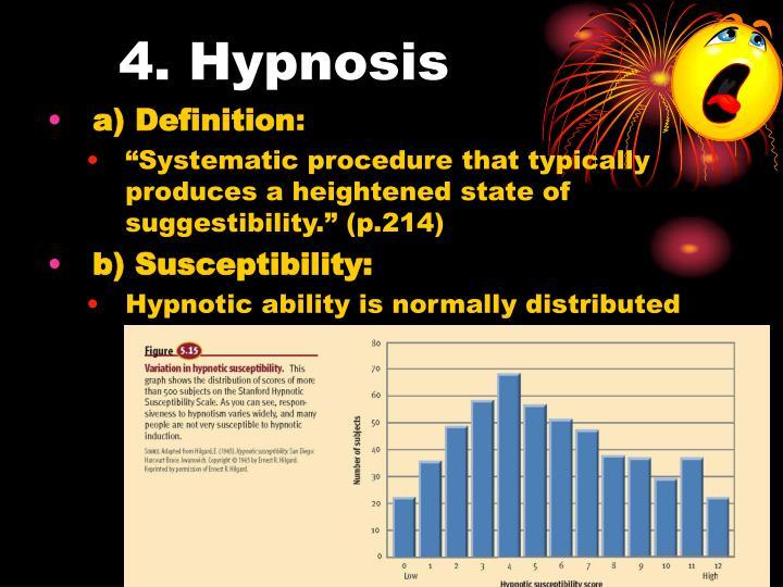 4. Hypnosis