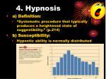4 hypnosis