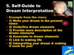 5 self guide to dream interpretation