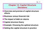 chapter 14 capital structure decisions