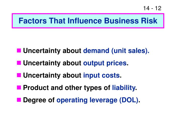 Factors That Influence Business Risk