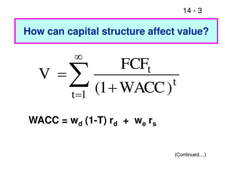 How can capital structure affect value?