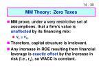 mm theory zero taxes