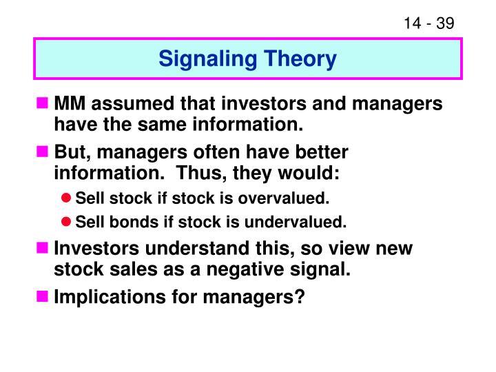 Signaling Theory