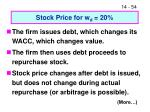 stock price for w d 20