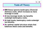 trade off theory