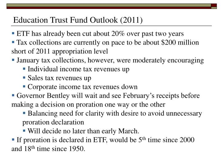 Education Trust Fund Outlook (2011)