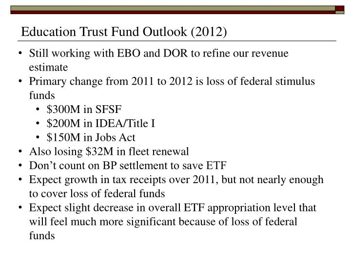 Education Trust Fund Outlook (2012)