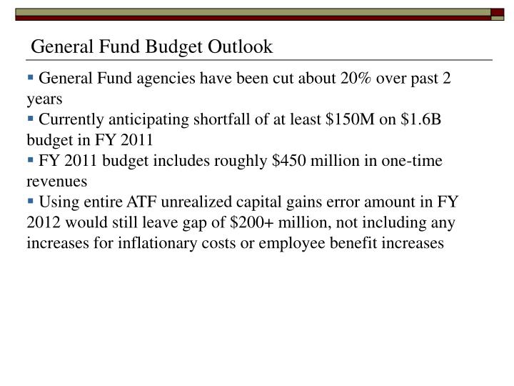 General Fund Budget Outlook