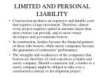 limited and personal liability
