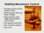 stability movement control
