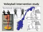 volleyball intervention study