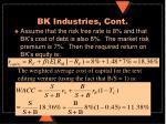 bk industries cont