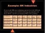 example bk industries