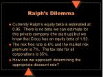 ralph s dilemma