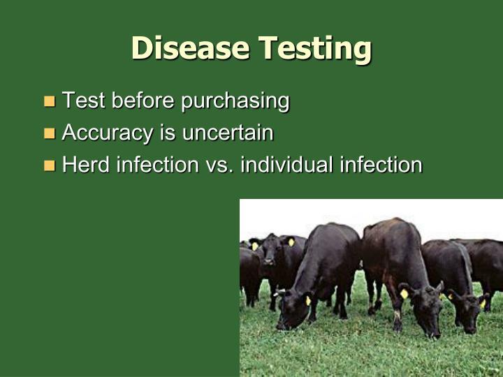 Disease Testing