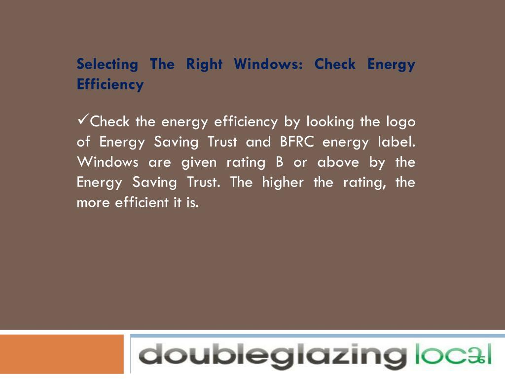 Selecting The Right Windows: Check Energy Efficiency