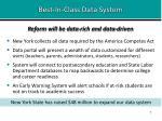 best in class data system