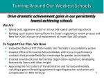 turning around our weakest schools