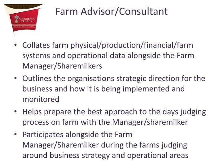 Farm Advisor/Consultant