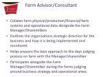 farm advisor consultant