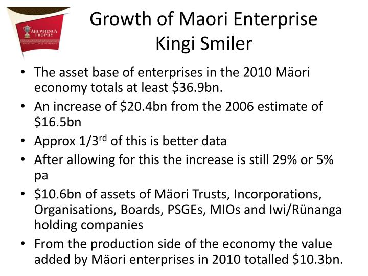Growth of Maori Enterprise