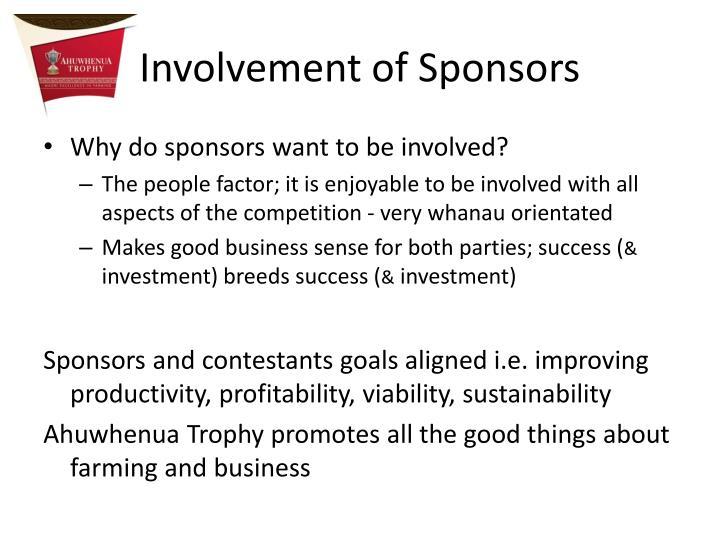 Involvement of Sponsors