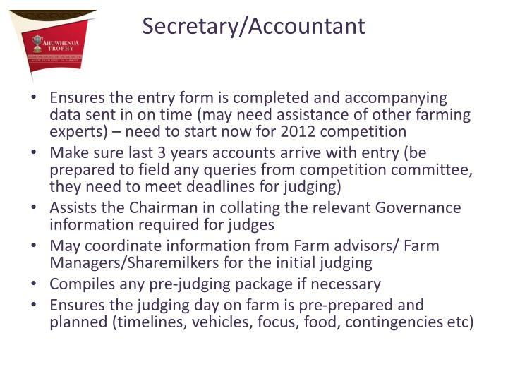 Secretary/Accountant