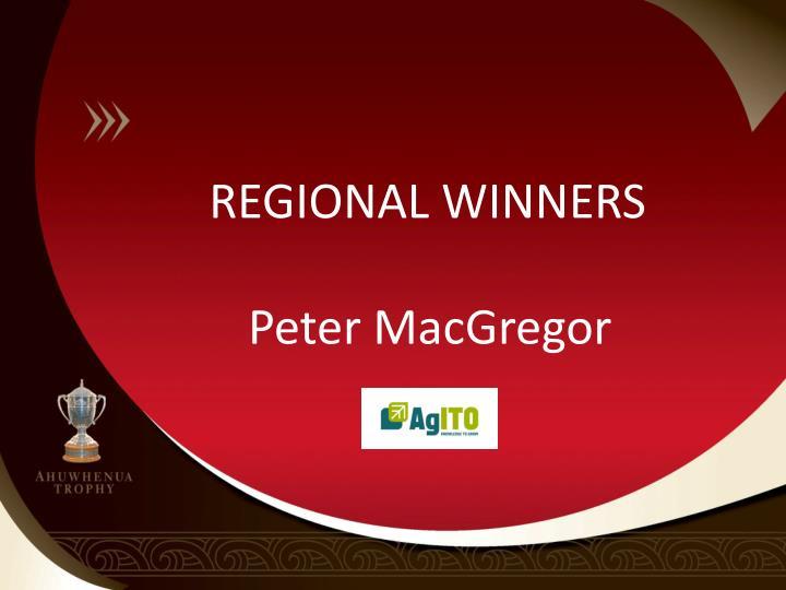 REGIONAL WINNERS