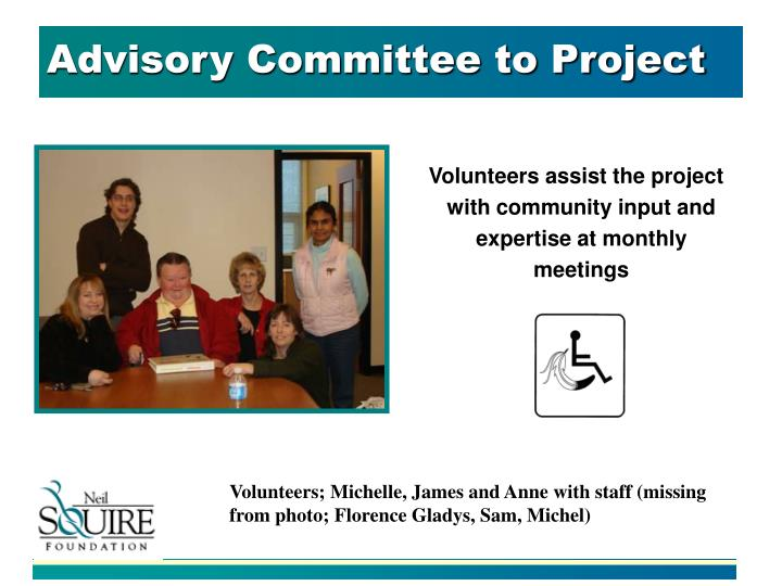 Advisory Committee to Project