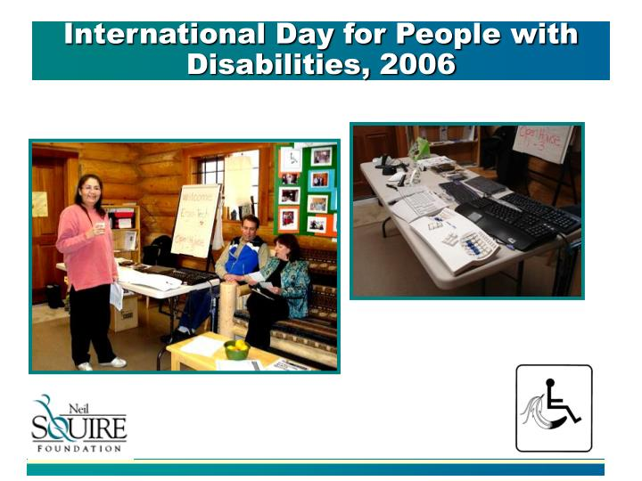 International Day for People with Disabilities, 2006