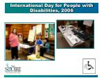 international day for people with disabilities 2006