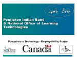penticton indian band national office of learning technologies