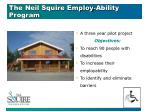 the neil squire employ ability program