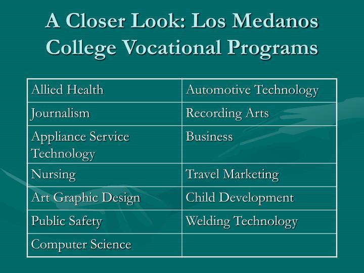 A Closer Look: Los Medanos College Vocational Programs