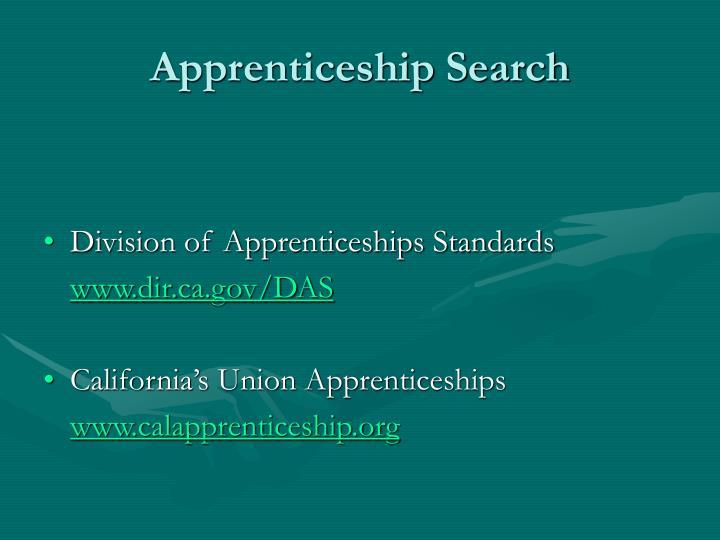 Apprenticeship Search