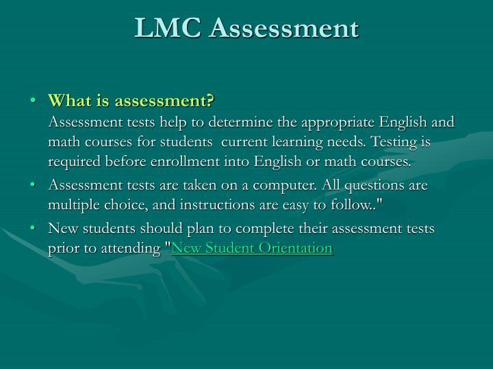 LMC Assessment