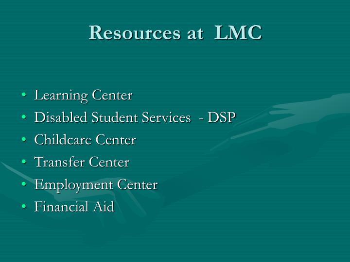 Resources at  LMC