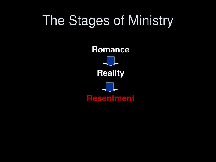 The Stages of Ministry