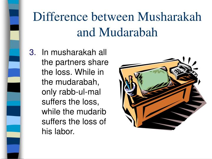Difference between Musharakah and Mudarabah