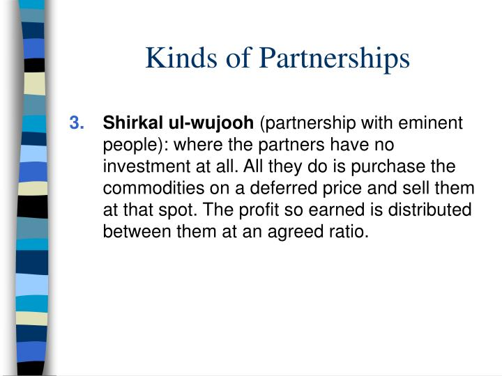 Kinds of Partnerships
