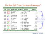 gordon bell prize peak performance