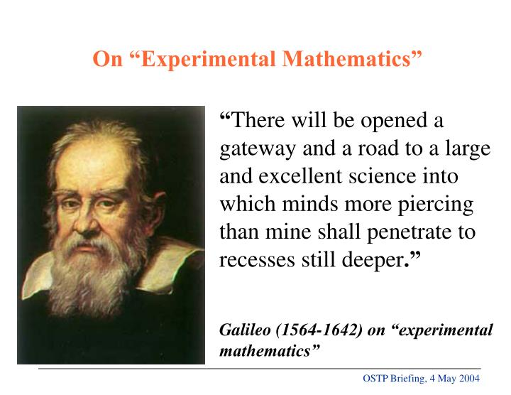 "On ""Experimental Mathematics"""