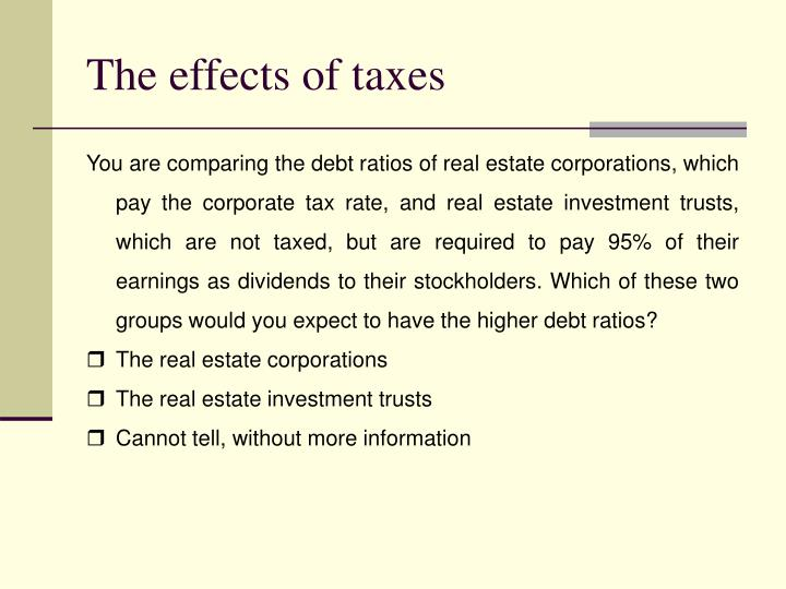 The effects of taxes