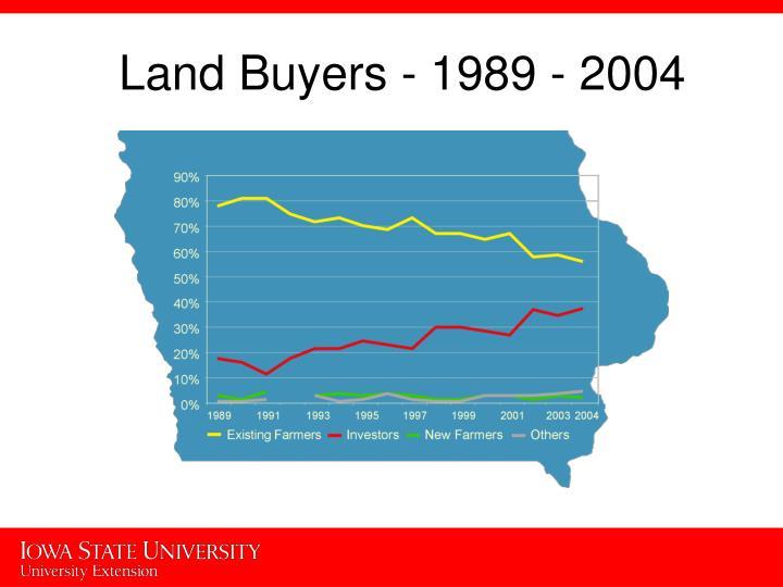 Land Buyers - 1989 - 2004